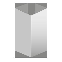 Pliegue en ventana doble (4 paneles por cara)